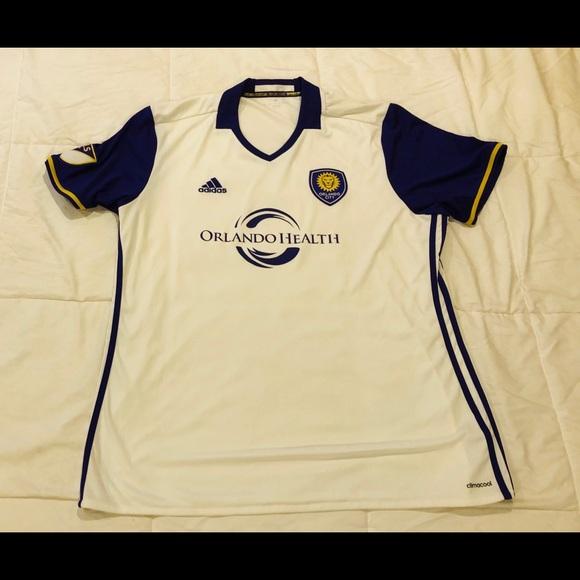 e1e4bbde1021 adidas Other - Adidas MLS Mens Jersey Sz 2XL White Orlando City